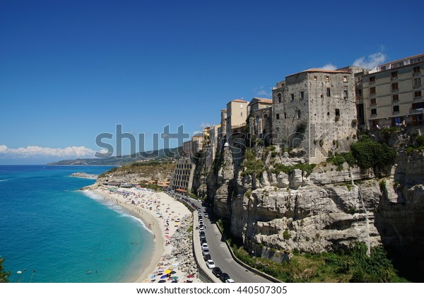 Tropea town on the rock