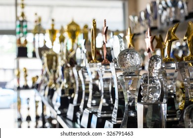Trophy awards for champion leadership in tournament, ceremony success for victory awards.