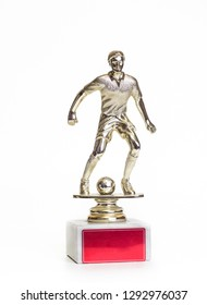 trophy best footballer. closeup