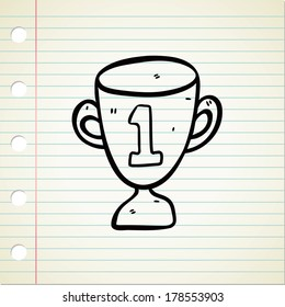 trophy in doodle style