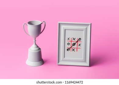 Trophy and painting