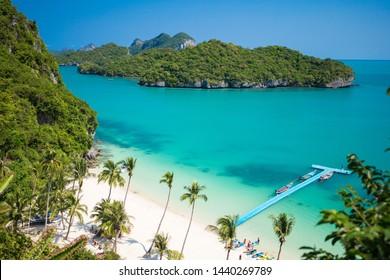 Tropical beach in Ang Thong National Park, Samui Thailand