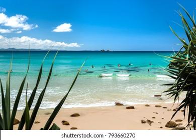 Tropical beach, Byron Bay Australia