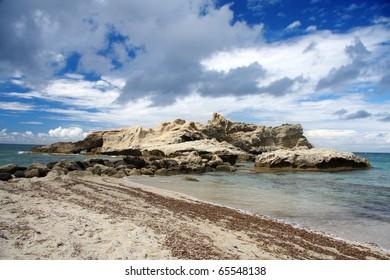 Tropical beach, Calabria, Italy