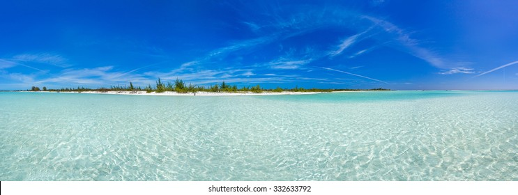 Tropical beach in Cayo Largo Paraiso beach. Cuba