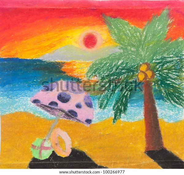 Tropical Beach Chair Coconut Sunset Free Stock Photo (Edit