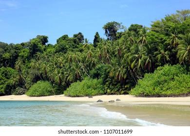 Tropical Beach of Coibita, aka Rancheria. Coiba National Park, Panama