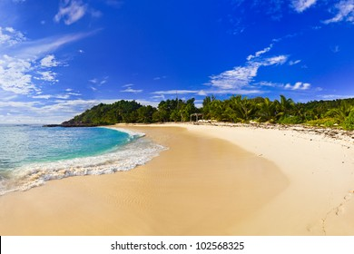 Tropical beach at evening - nature background