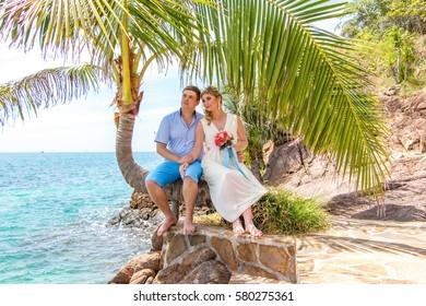 tropical beach exotic wedding