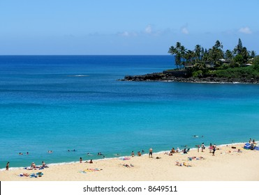 Tropical beach in Hawaii
