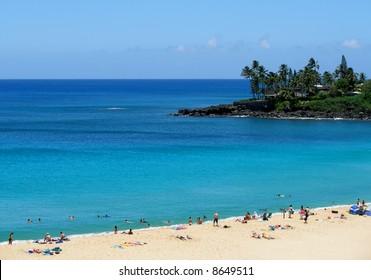 Tropical beach in Hawaii