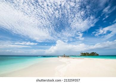 Tropical beach, Island Resort at Maldives