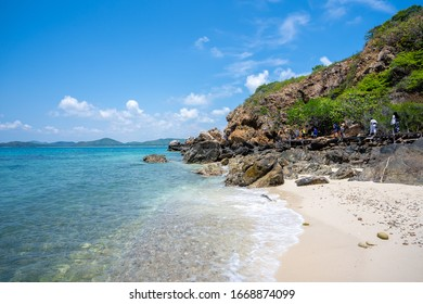 Tropical beach in Kham island, Thailand.