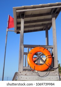 Tropical Beach Life Guard Tower