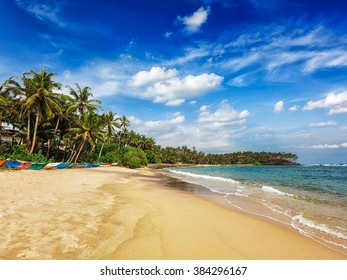 Tropical beach. Mirissa, Sri lanka