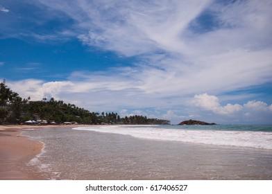 Tropical beach in Mirissa, Sri Lanka