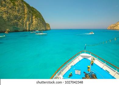 Tropical Beach Navagio Beach - Zakynthos Istand, Greece