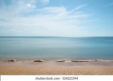 Tropical beach with nice sky
