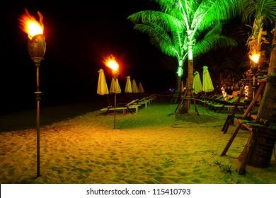 Tropical Resort Night Images Stock Photos Vectors