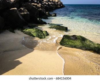 Tropical beach on the island of Sal, Cape Verde off the eastern coast of Africa