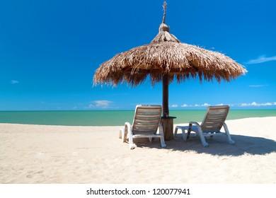 Tropical beach on Koh kho khao island in Thailand