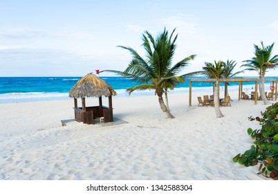 Tropical beach resort background