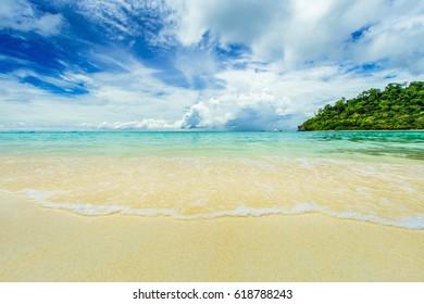 Tropical beach sand and sea, Thailand