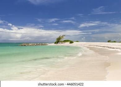 Tropical beach scene juanillo Dominican Republic.
