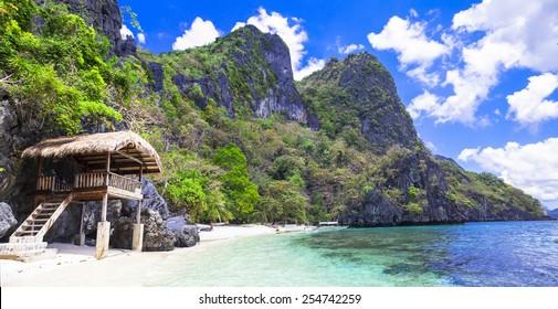 tropical beach scenery, Palawan (Philippines)