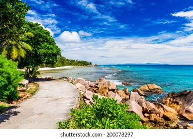 Tropical beach. The Seychelles