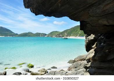 Tropical Beach sight in Rio de Janeiro,  Brazil
