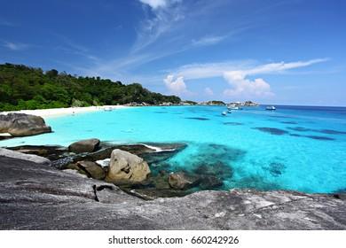 Tropical beach Similan Islands Andaman Sea Thailand