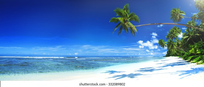 Tropical Beach Travel Holiday Vacation Leisure Nature Concept