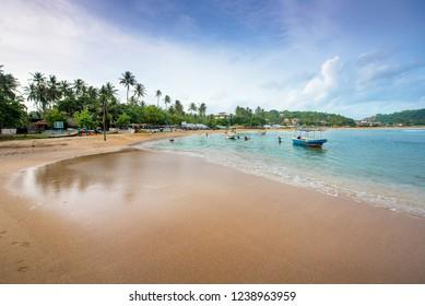 Tropical beach in Unawatuna, Sri Lanka