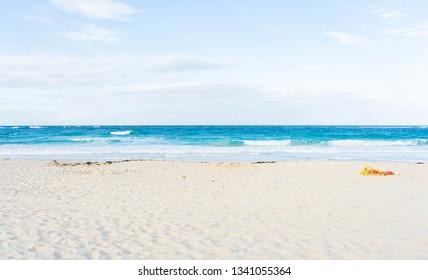 Tropical beaches and bright blue ocean in Punta Cana, Dominican Republic