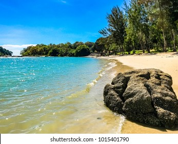 Tropical beaches of Malaysia, Asia. Malaysia is known for its beaches, rainforests and mix of Malay, Chinese, Indian and European cultural influences.