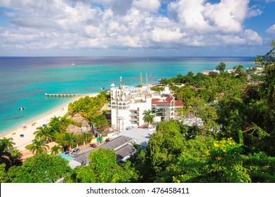 Tropical Caribbean island of Montego Bay, Jamaica