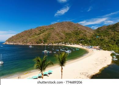 The tropical coastal town of Yelapa near Puerto Vallarta, Mexico