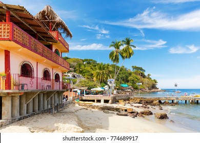 The tropical coastal town of Yelapa near Puerto Vallarta, Mexico