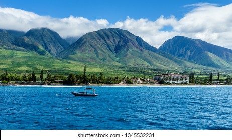 Tropical Coastline near Lahaina, Maui, Hawaii