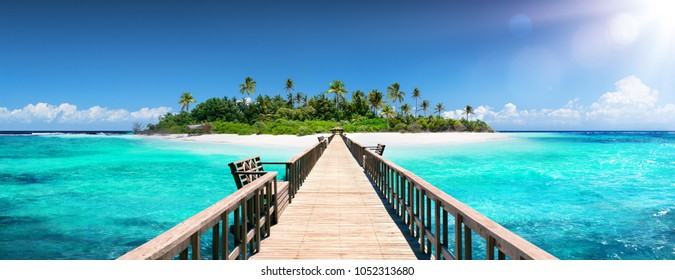 Tropical Destination - Pier For Paradise Island