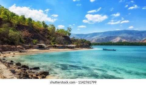 Tropical exotic coastline beach of dili in east timor