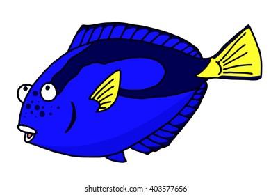 Tropical fish illustrations