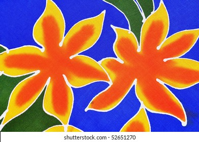 Tropical Flowers useful as a background pattern
