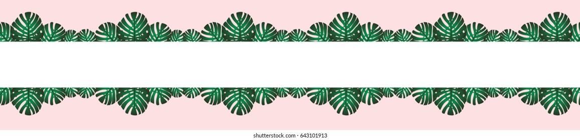 Tropical foliage. Floral design background