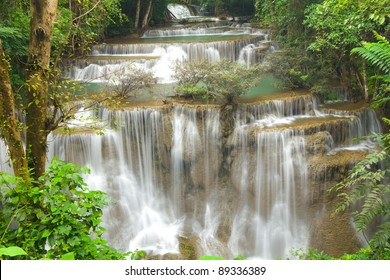 Tropical forest waterfall Thailand
