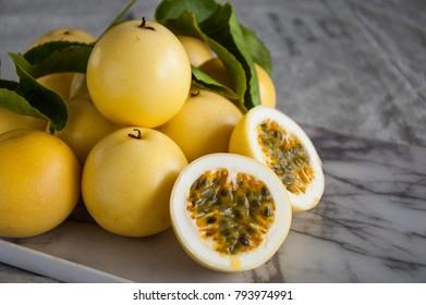 Tropical fruit passion fruit (Maracuja)