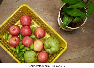 Tropical Fruits: Red Apple, Bilimbi, and Guava