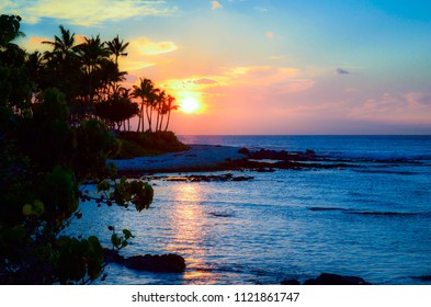 Tropical Hawaiian Sunset
