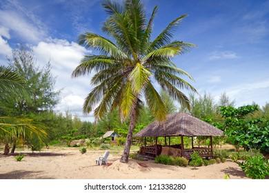Tropical hut at the beach in Thailand